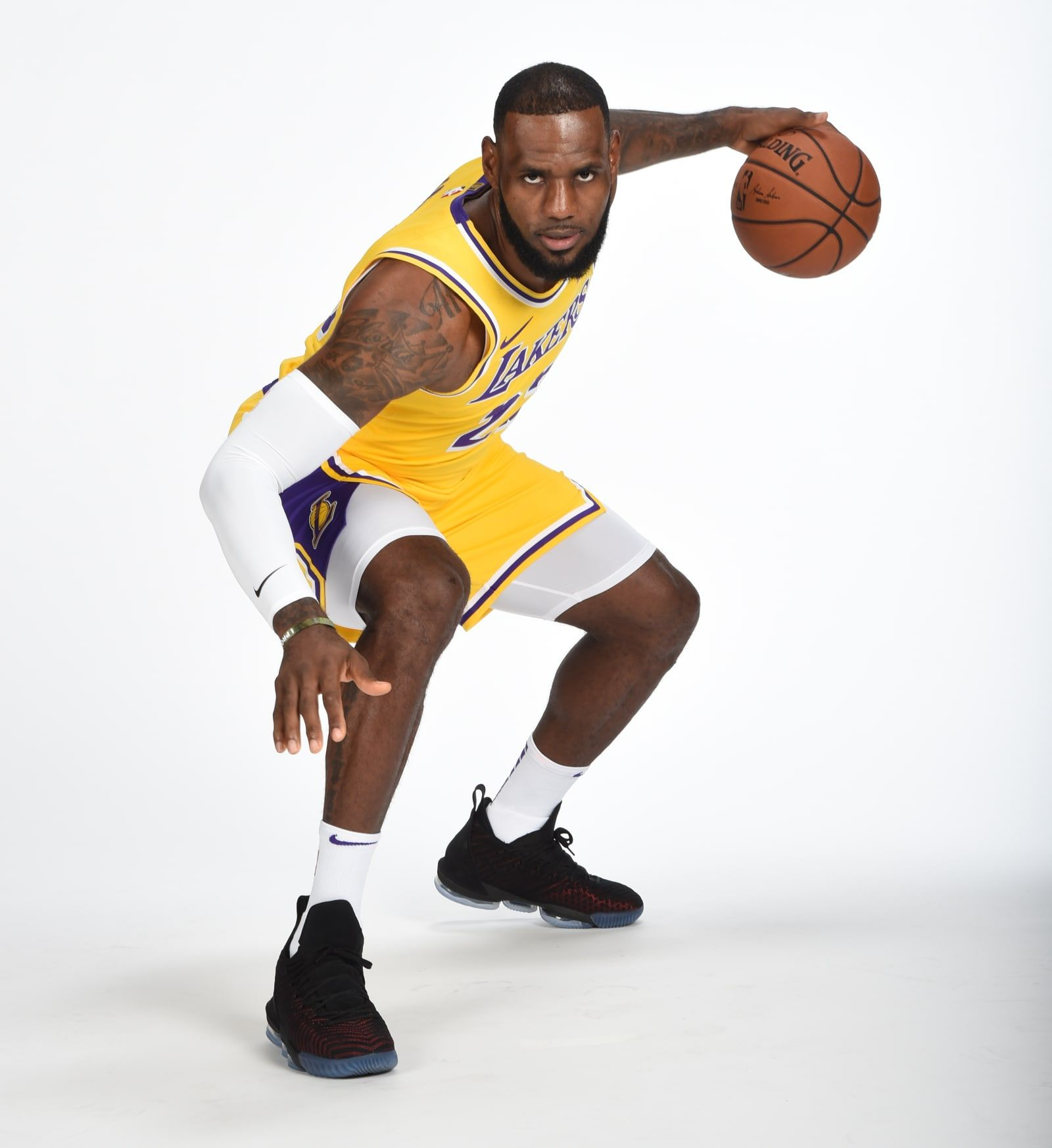 timeless design 63faf 5d550 LeBron James - Nike LeBron 16 - NBA Media Day 2018 Best Sneakers   Sole  Collector