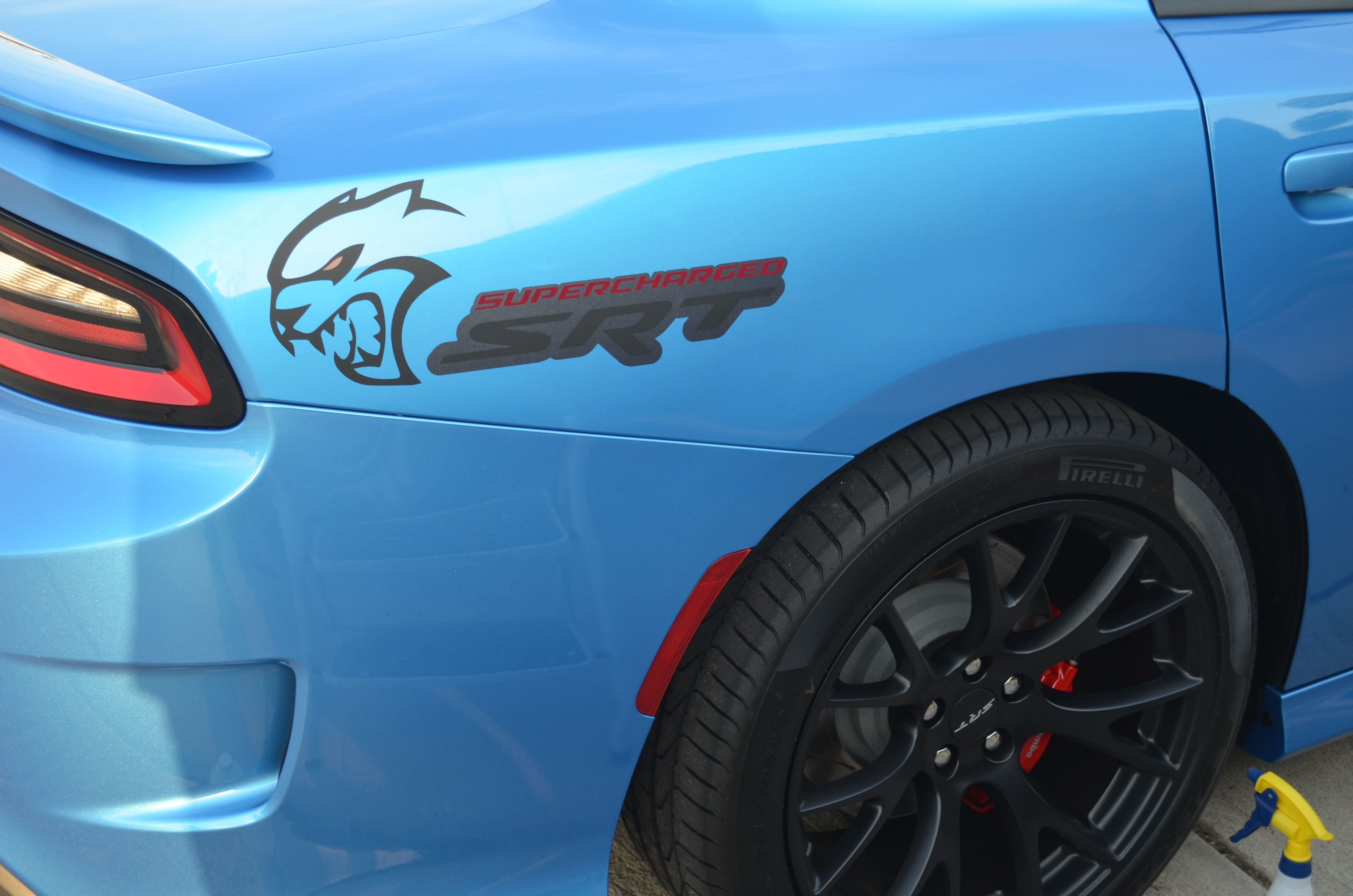 Charger 2015 srt hellcat rear quarter custom graphic decal