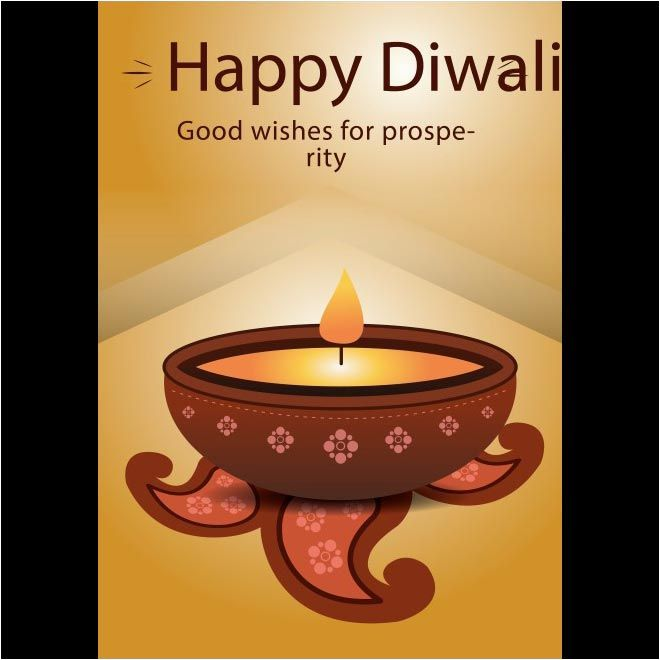 free vector happy diwali good wishes for prosperity flyer template