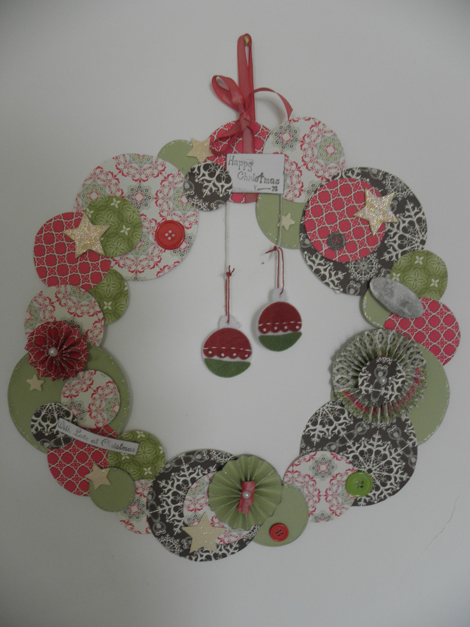 Couronne Decoration Couronne Scrapbooking Scrap Pinterest Noel Couronne