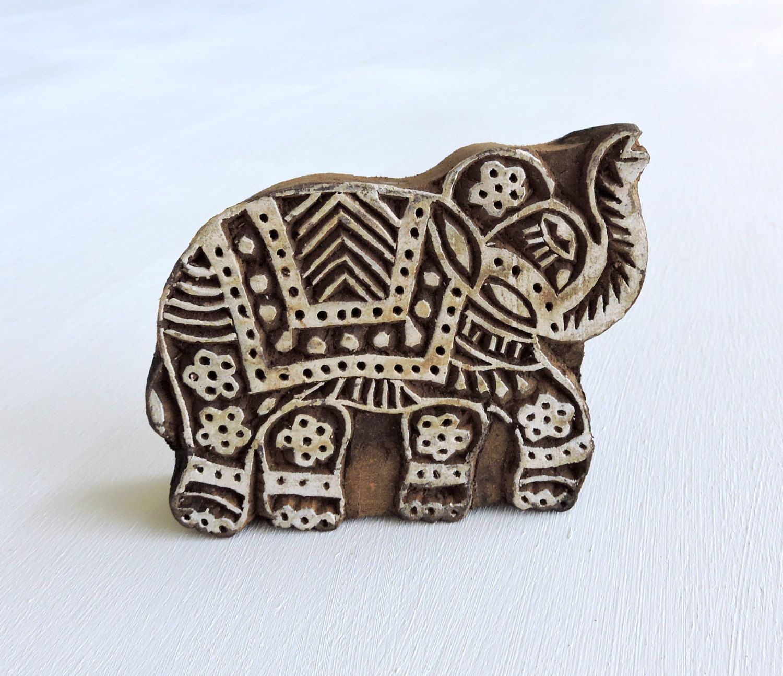 Indian elephant stamp indian printing block hand carved wooden indian elephant stamp indian printing block hand carved wooden stamp textile stamp buycottarizona Images