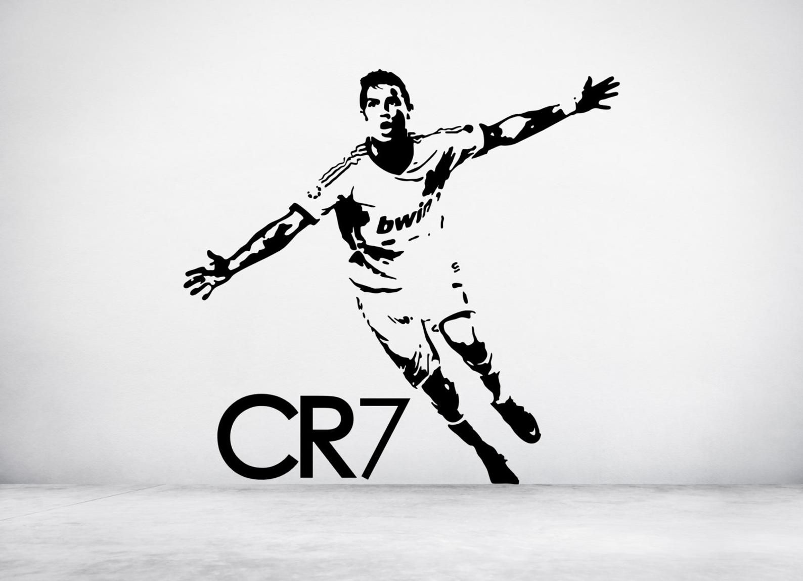 Best Footballer Wall Sticker Decal Art Any Colour And A Choice 400 x 300