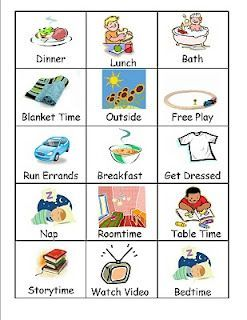 Card Printables Picture Schedule Visual Schedule Create Your Own Picture