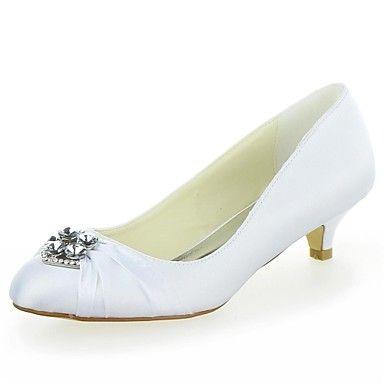 Women S Wedding Shoes Round Toe Heels Wedding Black Blue Yellow