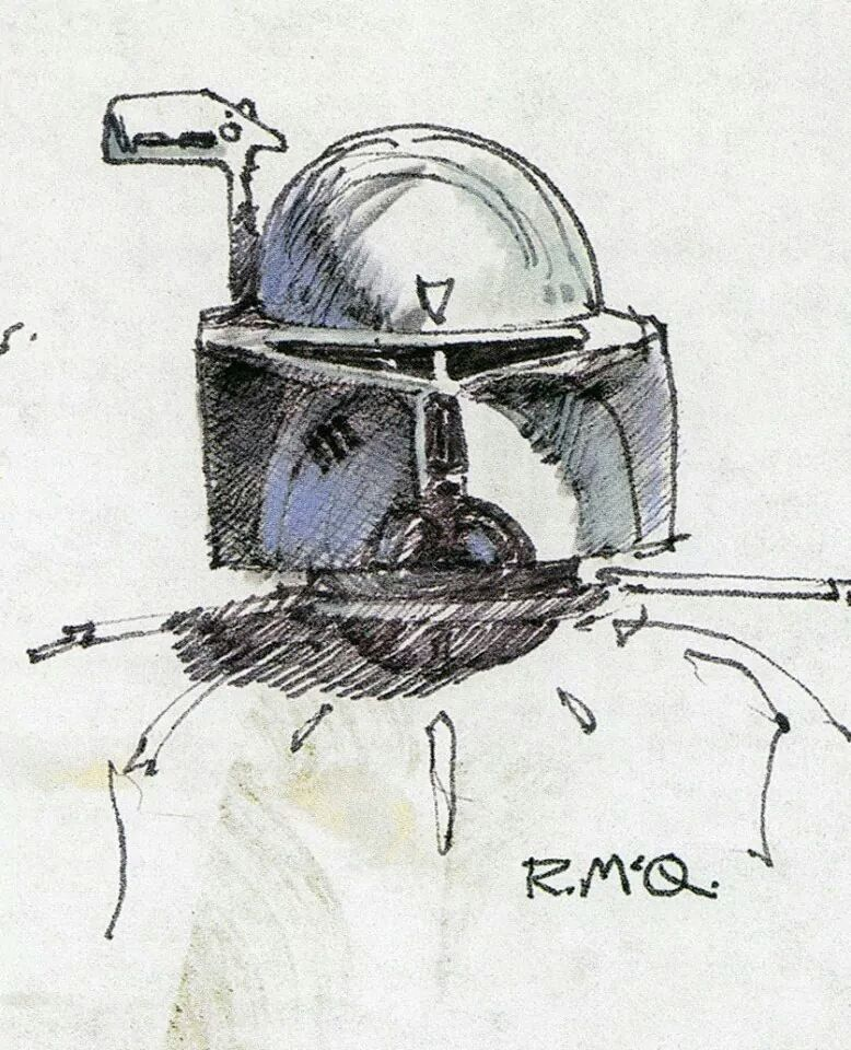 Ralph Mcquarrie Boba Fett Concept Helmet Mandalorians Pinterest