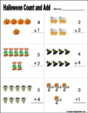 math halloween count add vertical worksheet kindergarten grade 1 crafts for kids. Black Bedroom Furniture Sets. Home Design Ideas