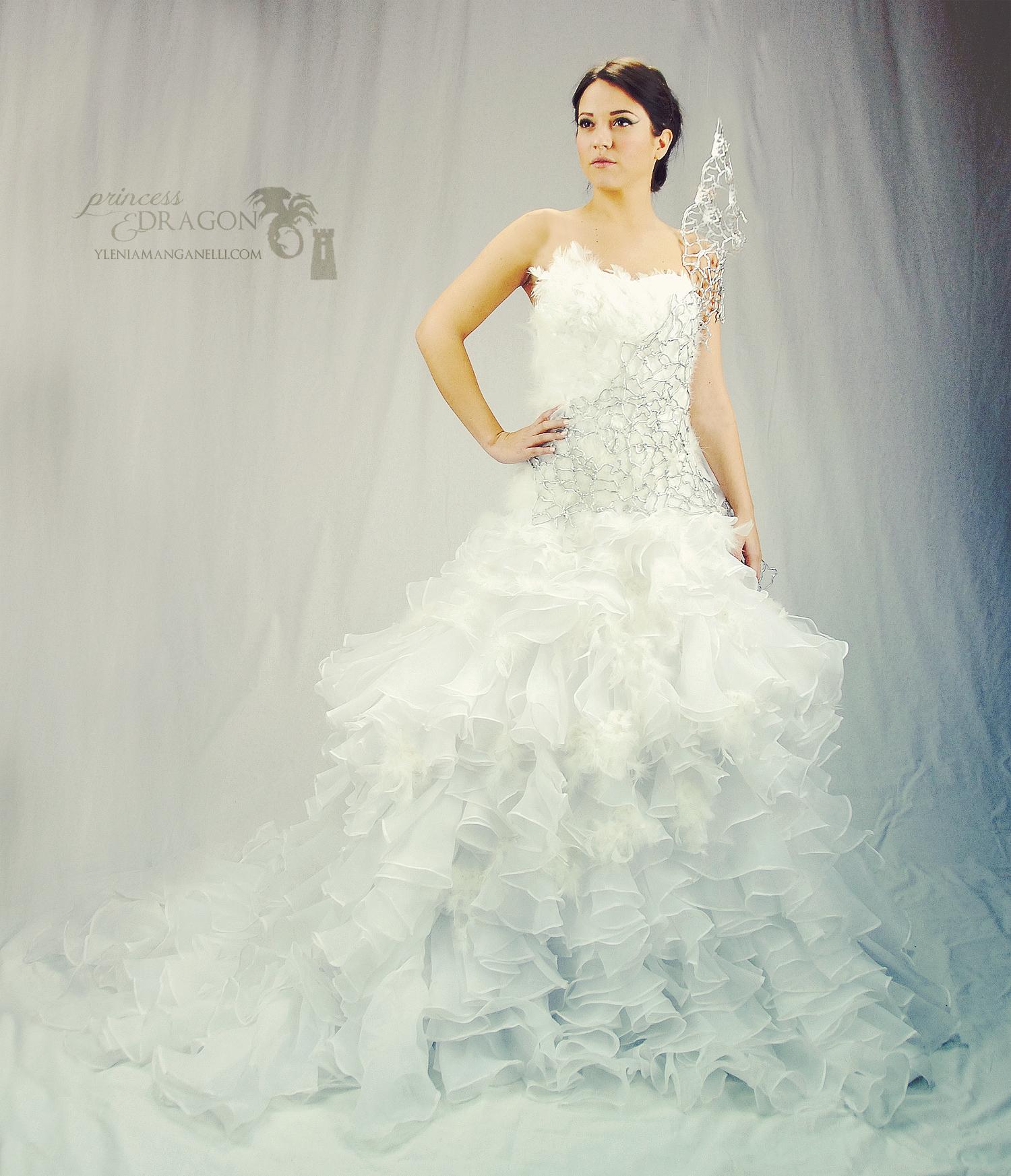 Katniss Everdeen Catching Fire Hunger Games Wedding Dress