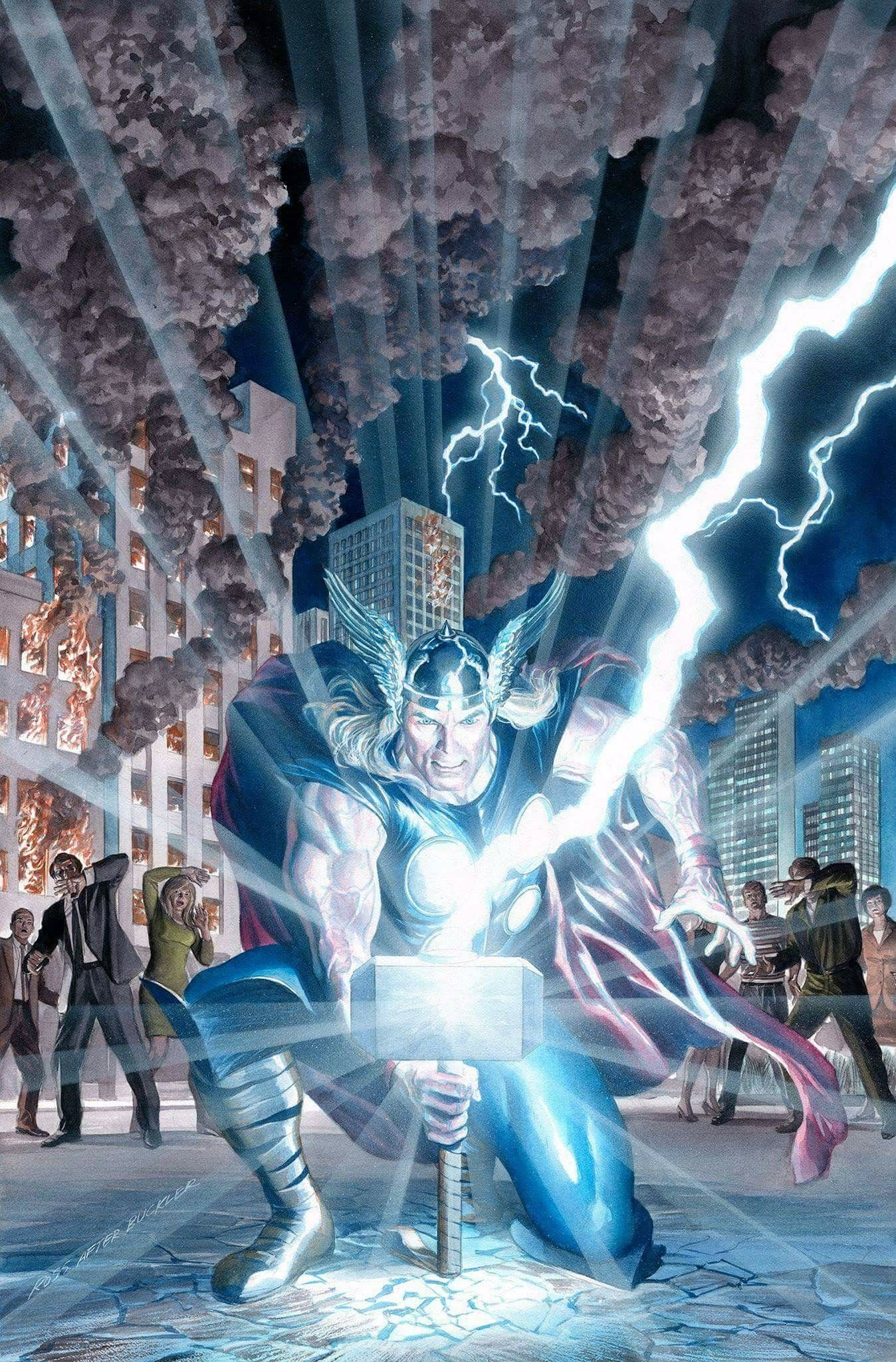 Thor by Alex Ross | The mighty thor, Marvel, Marvel comics art