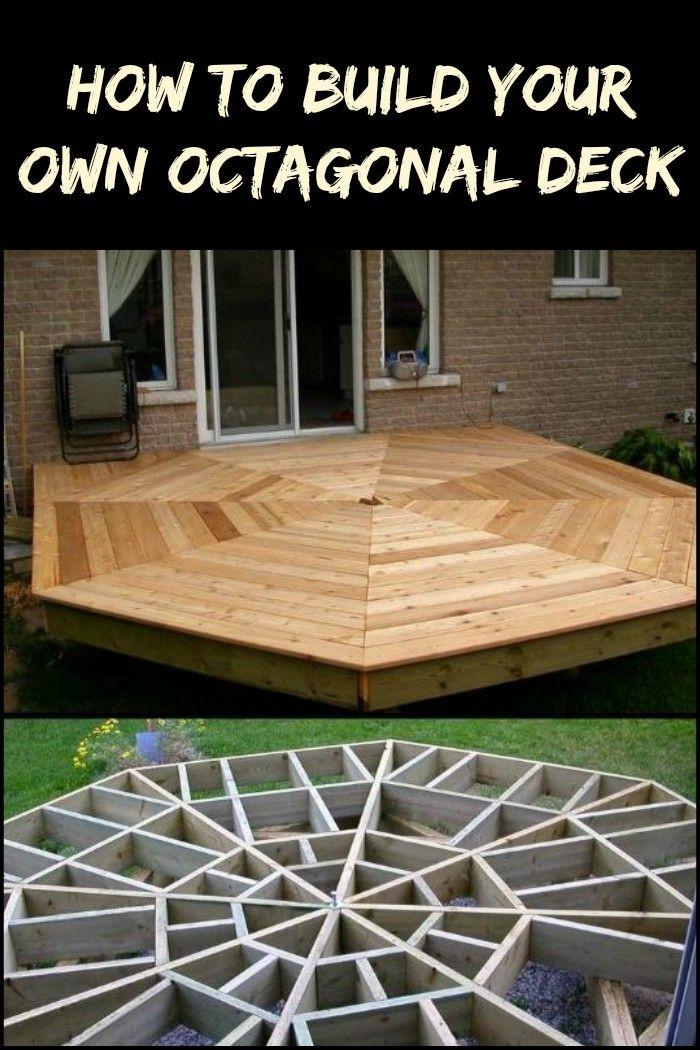 How To Build An Octagonal Deck Diy Deck Building A Deck Deck Design