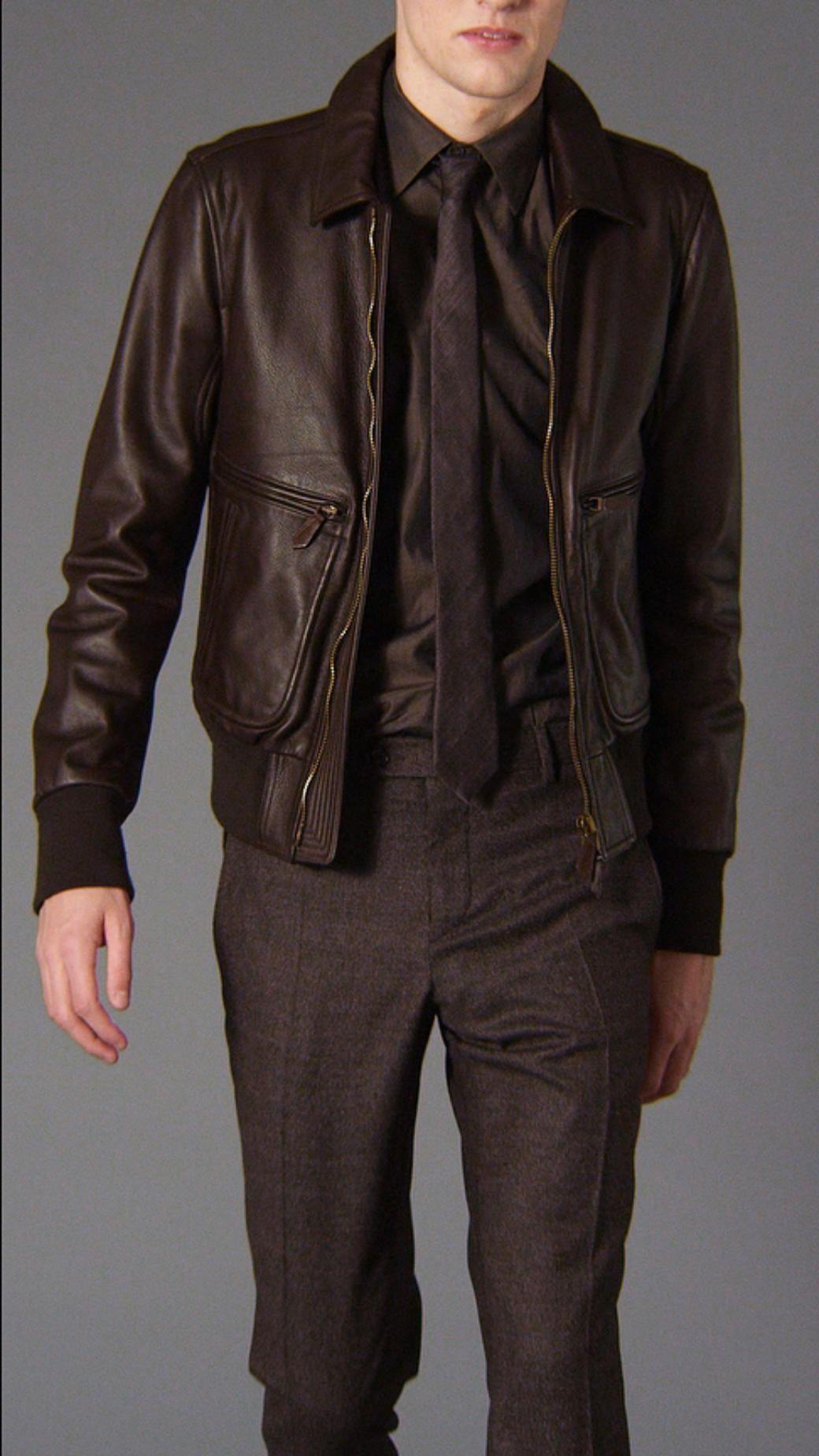 Burberry Leather Bomber Jacket Leather Jacket Men Mens Outfits Leather Bomber Jacket [ 1849 x 1040 Pixel ]