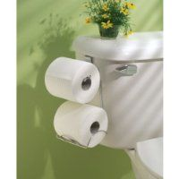 InterDesign Classico Toilet Paper Holder for Bathroom Storage, Over the Tank - Horizontal, Chrome