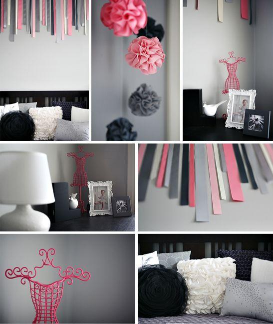 Tendance, la chambre bébé grise et rose de Lila | Gris rose ...