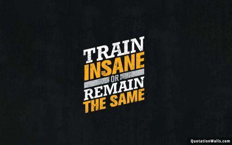 Motivational Quotes: More Train Insane Wallpaper For Desktop Pictures
