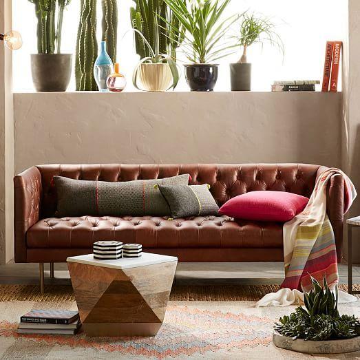 Astonishing Modern Chesterfield Leather Sofa Burnt Sienna No 3744 Uwap Interior Chair Design Uwaporg