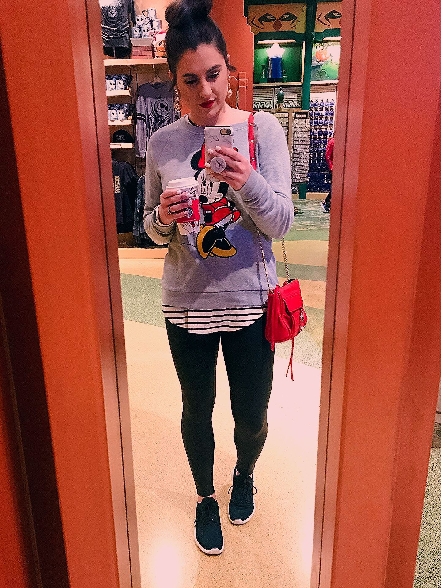 What to wear to Disneyland in January. | Topknots and Pearls