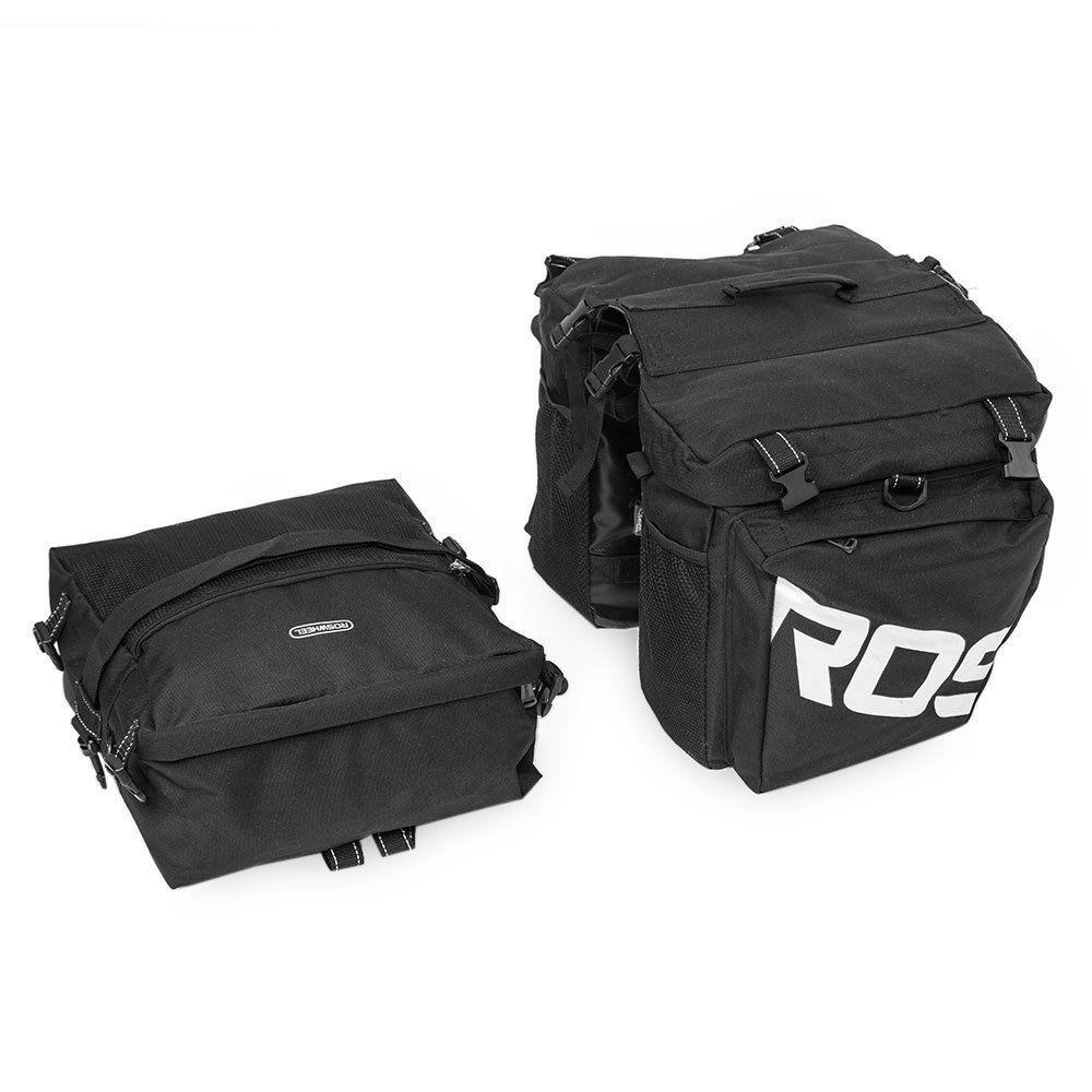 COTEetCI Bike Rack Trunk Bag Bicycle Seat Bag Outdoor Bike Saddle Bag Bicycle Panniers Bike Bags Rear Rack 10L Black