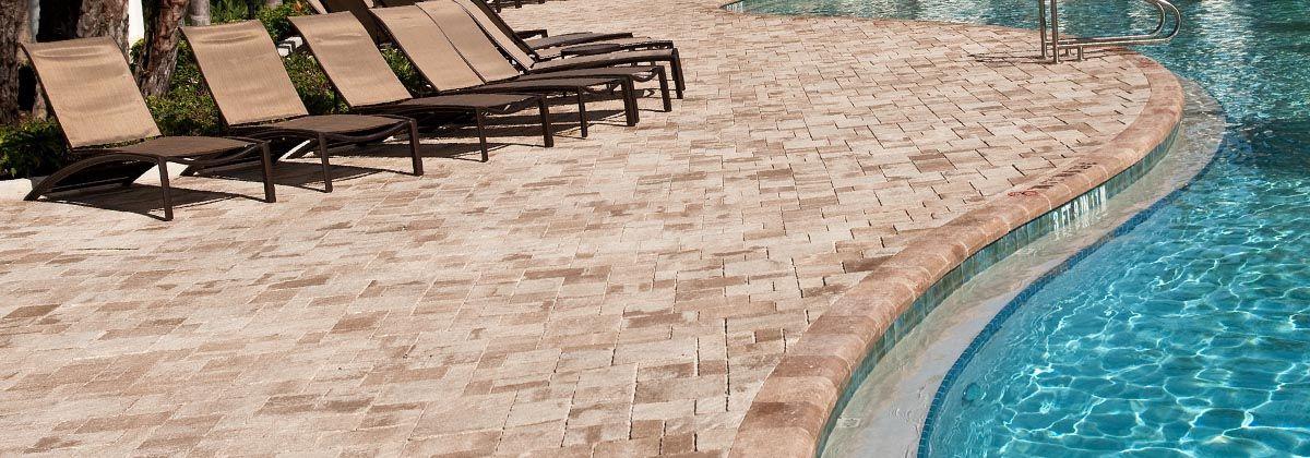 pavers, patios, pool decks, tan/beige, brown   belgard   pinterest