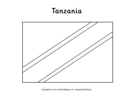 tanzania flag colouring page all aboard tanzania pinterest