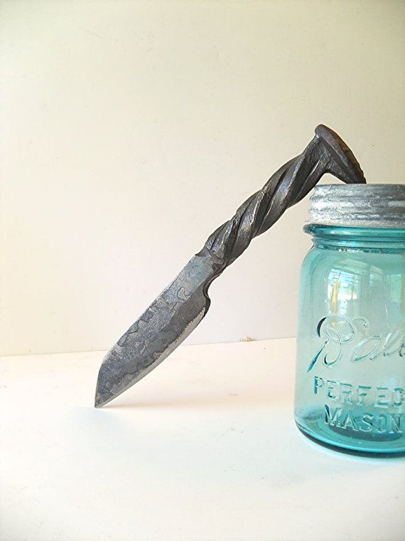 Railroad spike Pearce knife.