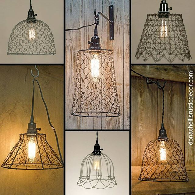 no wiring required add a chicken wire or other wire swag pendant rh pinterest com Modern Swag Lamps Antique Swag Lamps