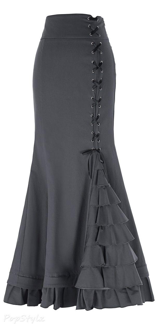 af8c159de034 Belle Poque Vintage Long Ruffled Fishtail Skirt | SKIRT in 2019 ...