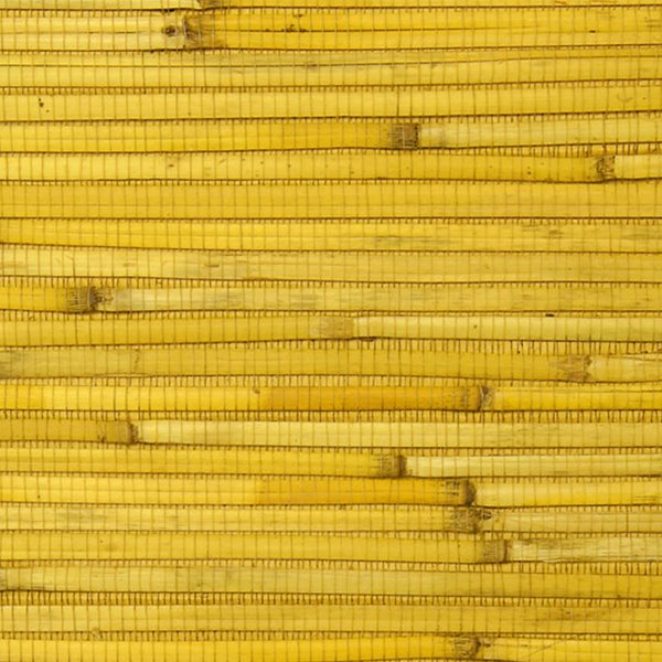 Reed Yellow Grasscloth Wallpaper