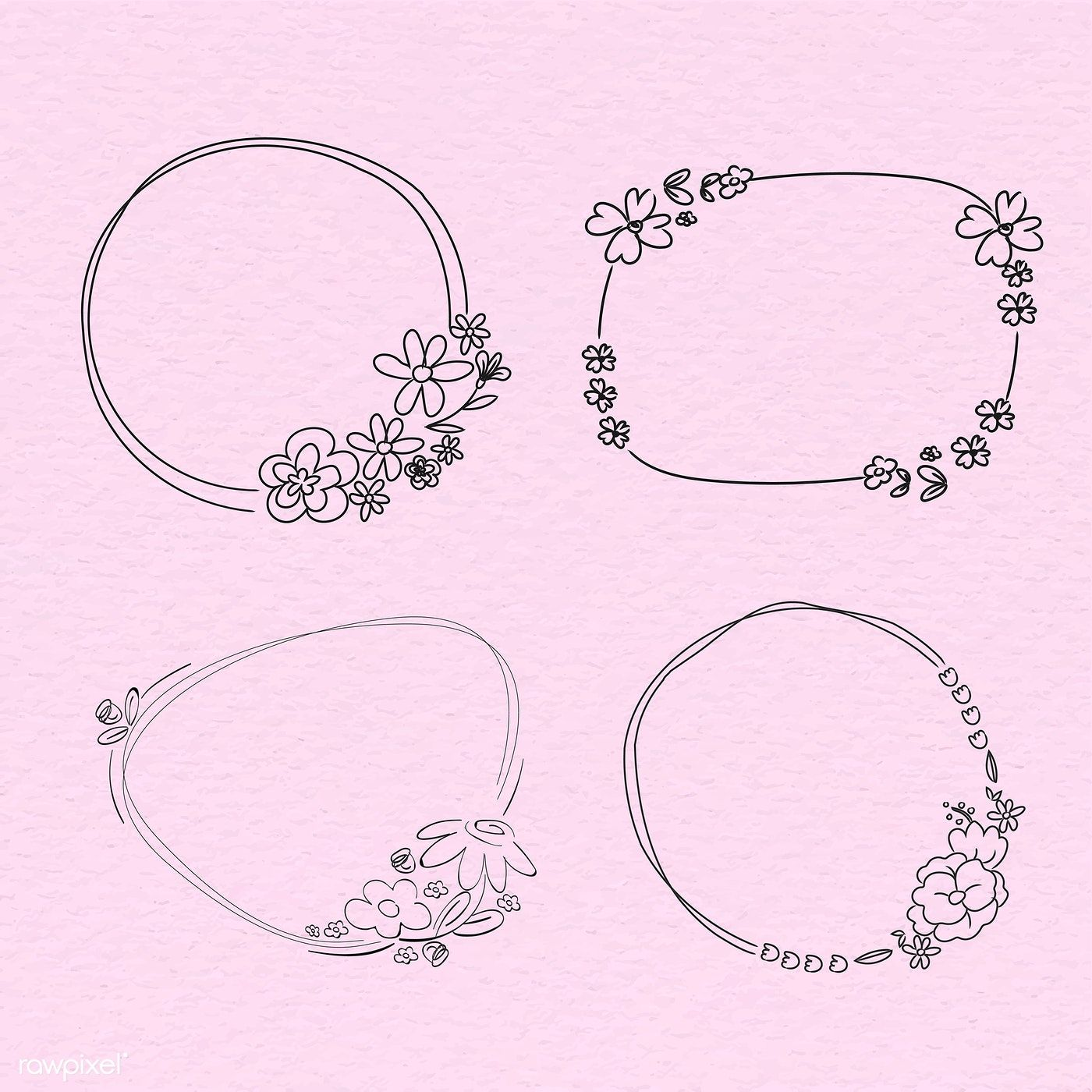 Photo of Download the free vector hand drawn floral wreath vector collection 2271856