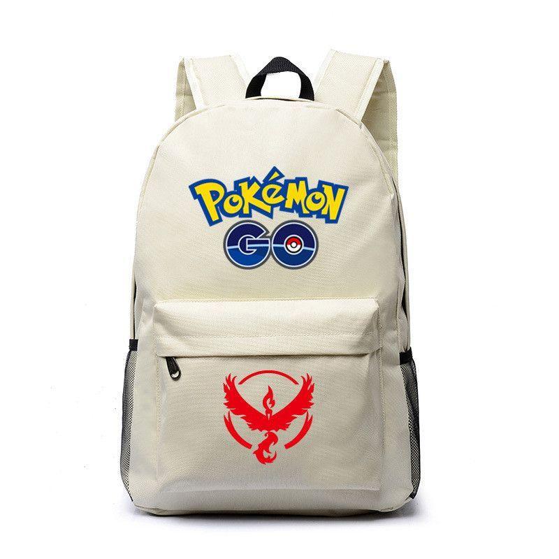 f6a305e9781d Pokemon go school bag Canvas backpack