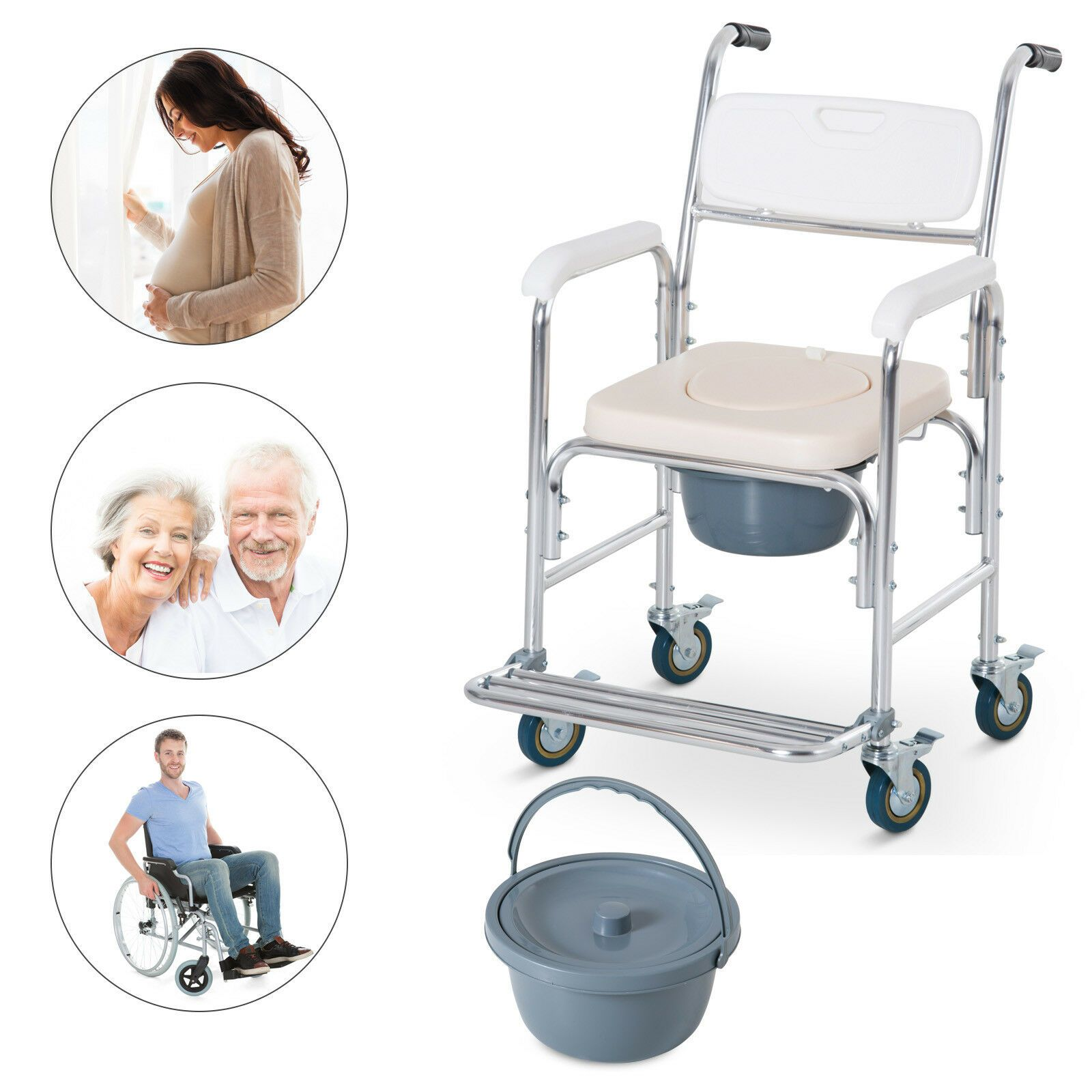 Personal Mobility Assist Waterproof Commode Shower Toilet Transport Wheelchair Wheelchair Ideas Of Wheelchair Whee Transport Wheelchair Wheelchair Commode