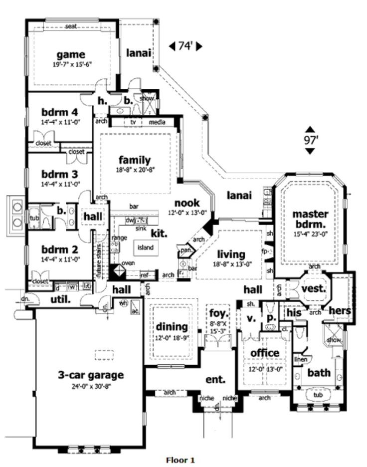House plans in law suites single story single story with for House plans with bonus room upstairs