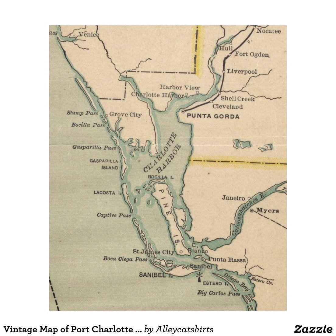 Map Of Port Charlotte Florida.Vintage Map Of Port Charlotte Florida 1896 Fleece Blanket Fleece