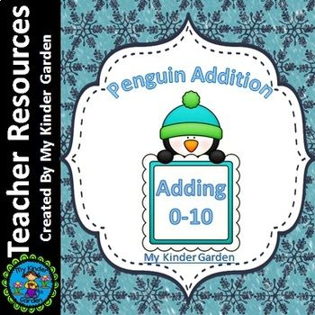 Penguin Addition Adding 0-10 Math Worksheets | Math worksheets ...