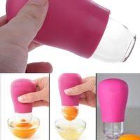 Cocina Gadget silicona yema de huevo blanco ventosa separador separador Filter nueva herramienta