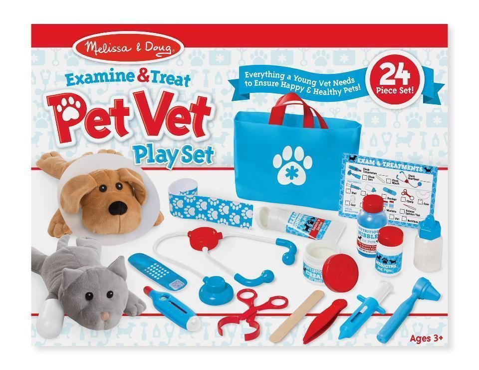 Other Preschool And Pretend Play 19181 Melissa And Doug 8520 Examine And Treat Pet Vet Play Set Buy It Now Onl Playset Pet Vet Kids Play Kitchen