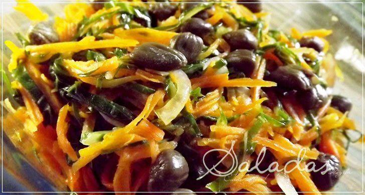 Salada de cenouras com alcaparras