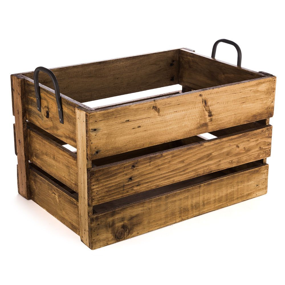 New Ethos Reclaimed Wood Large Storage Crate Crate Storage