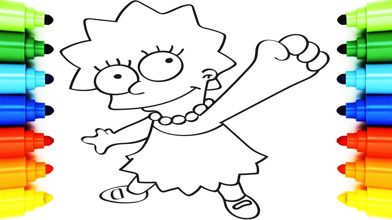 How to Draw The Simpsons, Coloring Pages Lisa Simpson | Art Colors ...