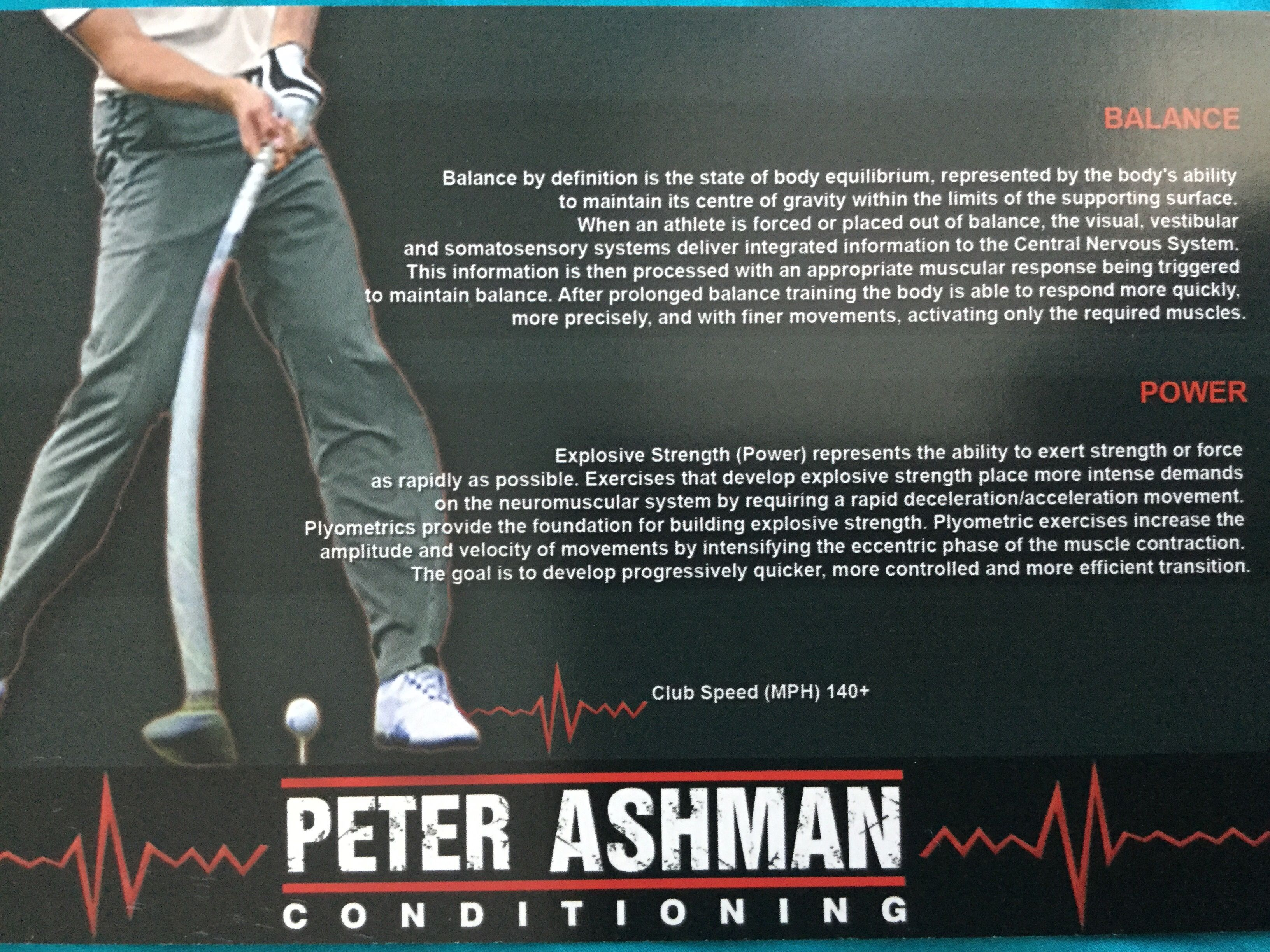 Brochure panel; Peter Ashman Conditioning | Somatosensory ...