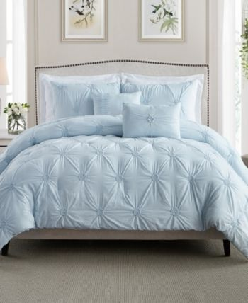 Cathay Home Inc Floral Pintuck Twin Twin Xl Comforter Set Reviews Bedding Collections Bed Bath Macy S King Comforter Sets King Comforter Comforter Sets