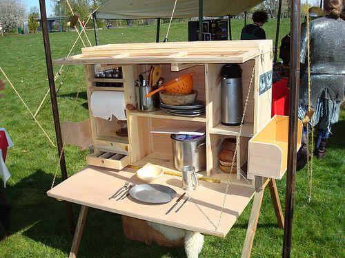 Homemade Camping Kitchen Set Outdoor Camping Kitchen Camp Kitchen Comfortable Camping