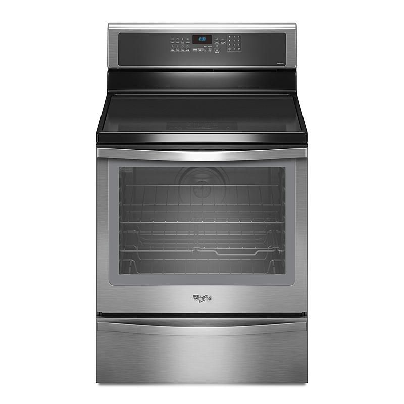 Whirlpool Wfi910h0as 6 2 Cu Ft Induction Range W Timesavor Plus True Convection Stainless Steel Space Self Cleaning Ovens Convection Cooking Oven Cl