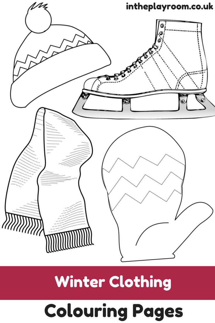 Winter Clothing Colouring Pages In The Playroom Colouring Pages Coloring Pages Winter Winter Outfits