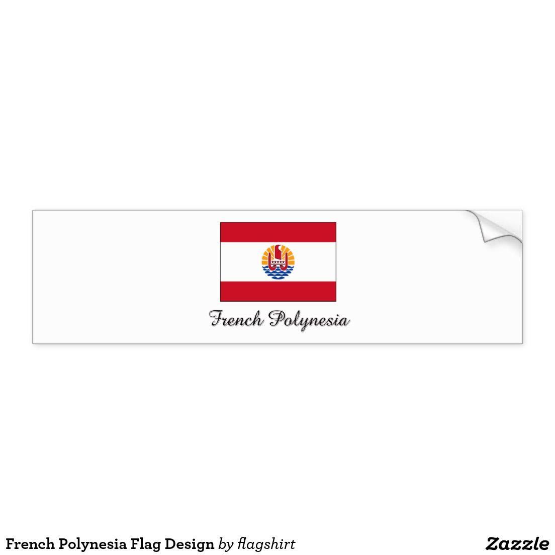 Bumper sticker design ideas - French Polynesia Flag Design Bumper Sticker