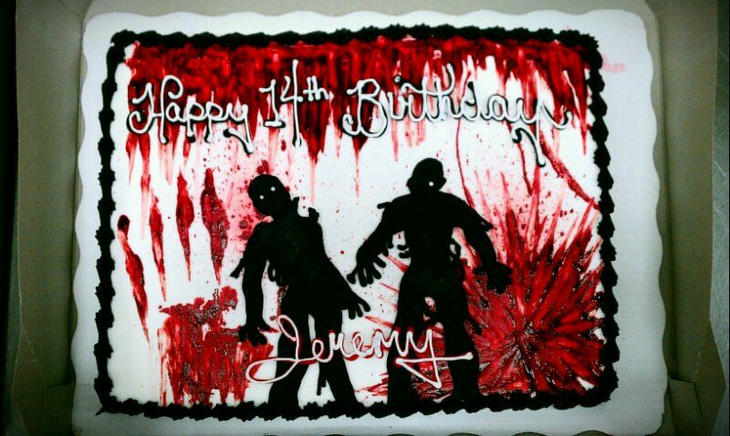 Zombie Birthday Cake Zombie Pinterest Birthday cakes