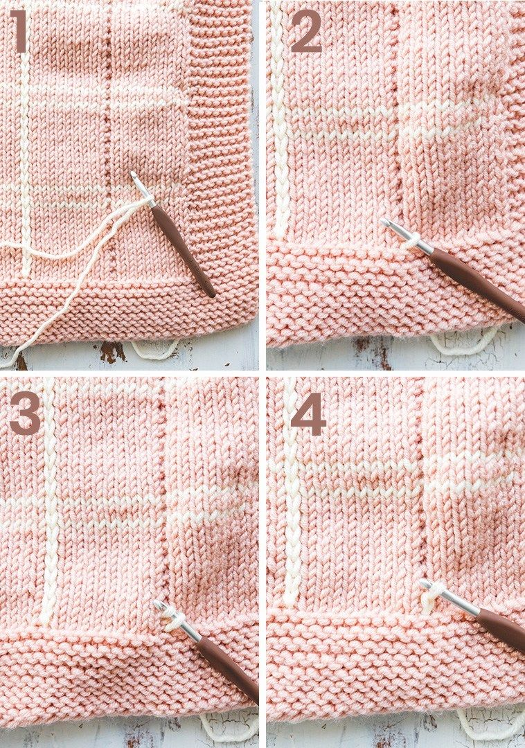 How to knit a plaid blanket crochet shawls wraps