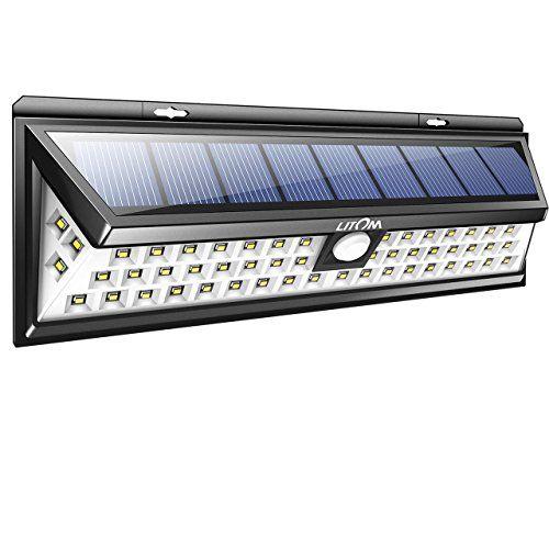 Litom 54 LED Lampe Solaire  Détecteur de Mouvement éclairage de