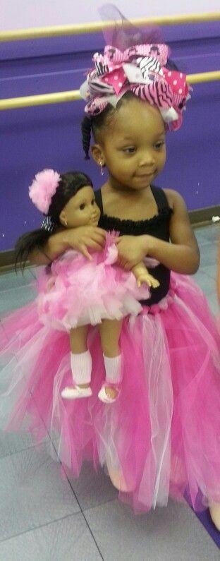 My Ballerina's and her American Girl Doll Ballerina Josefina.