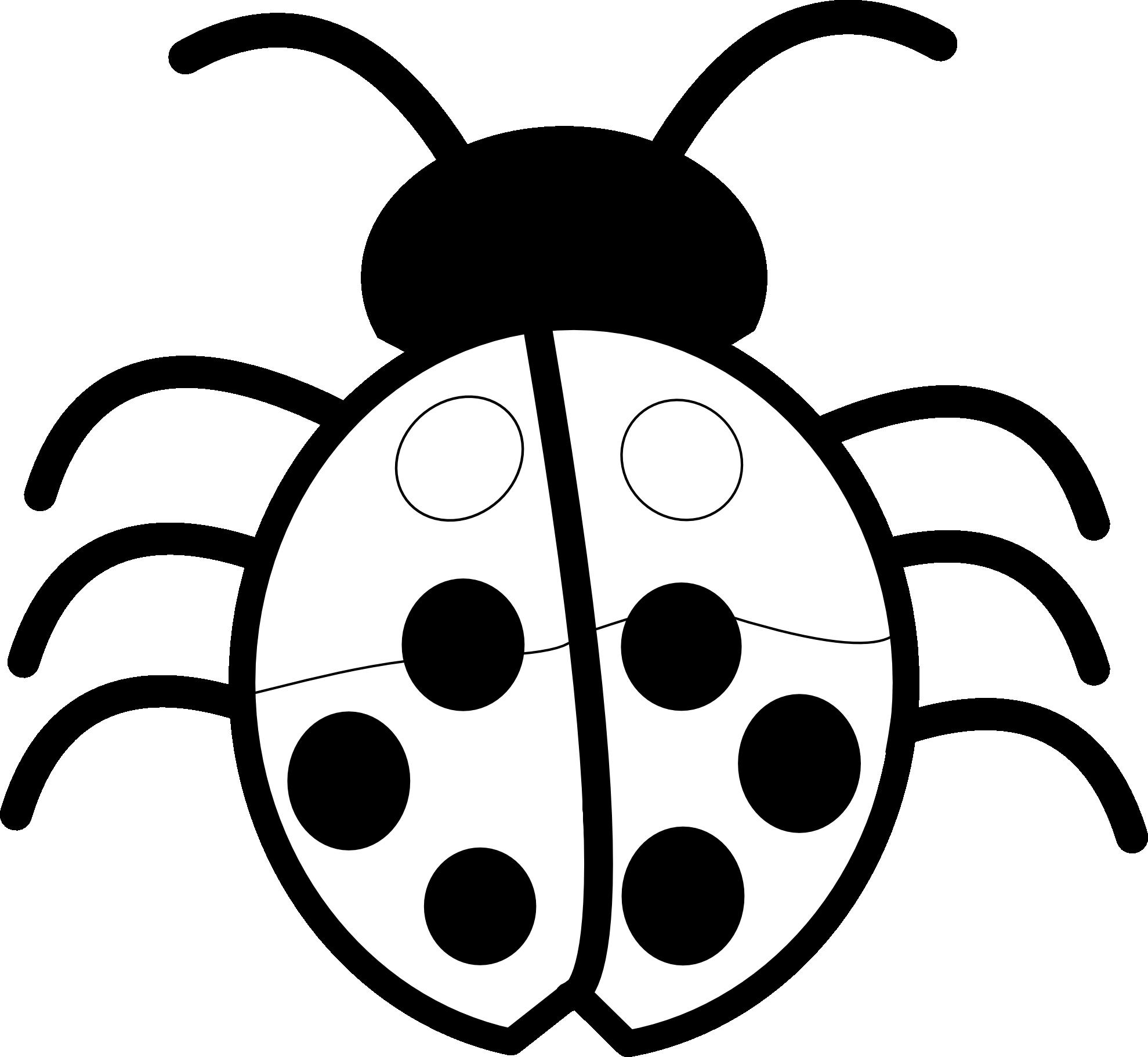 35+ Ladybug Black And White Clipart
