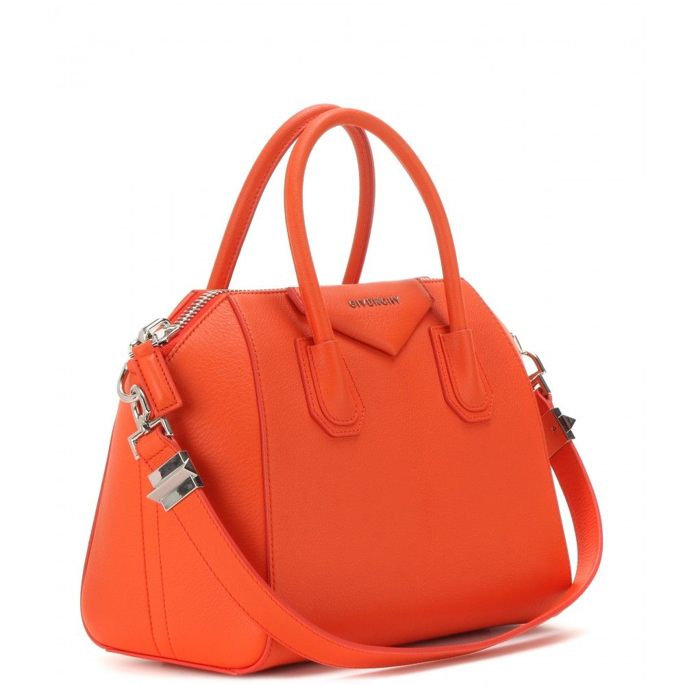 34705a9928c6 Givenchy Antigona Small Leather Tote in Orange
