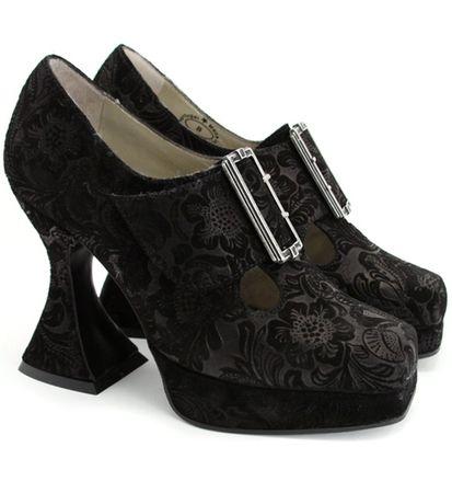 Black Suede *Munster* Coffin Heels <3